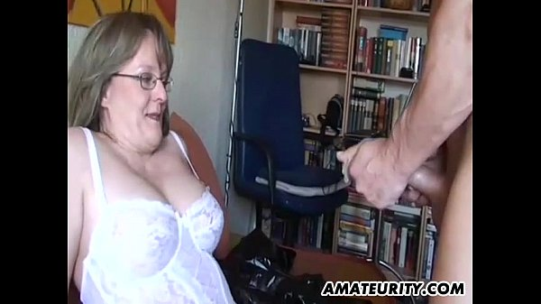Inexperienced Cougar with huge tits inhales and fucks with spunk